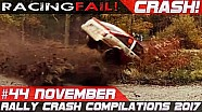 Rally crash compilation week 44 November 2017 | Racingfail