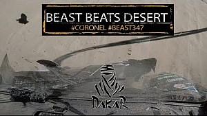 Auto van gebroeders Coronel heeft het zwaar te verduren in etappe 11 Dakar Rally