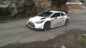 Andreas Mikkelsen en essais pour le Rallye Monte-Carlo