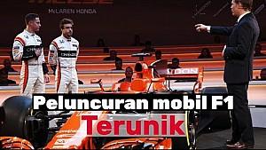 Peluncuran mobil F1 terunik