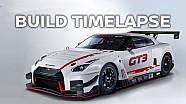 Armado del Nissan GT-R Nismo GT3 2018 en timelapse