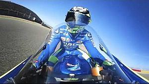 Caméra embarquée en 360° avec Andrea Iannone en Aragón