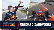 On board for a blistering lap of Zandvoort with Max Verstappen