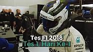 Tes F1 2018: Hari Ke-1