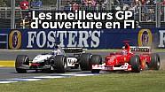 Les meilleurs GP d'ouverture en F1