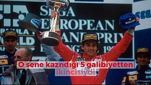 Ayrton Senna'nın 1993 Donington'daki destansı zaferi