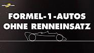 Formel-1-Autos ohne Renneinsatz