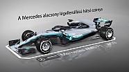Animáció: A Mercedes különleges hátsó szárnya Bakuból
