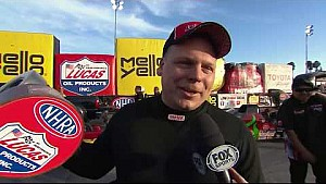 Winternationals Alcohol dragster winner Shawn Cowie