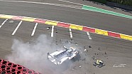 Pietro Fittipaldi crash - Spa 2018