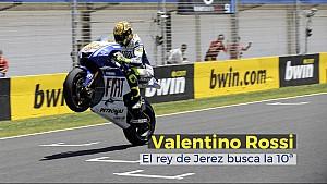 Valentino Rossi, el rey de Jerez busca la 10ª