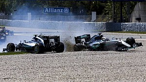 Teamkollegen-Crashs in der F1