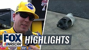 Kyle Busch goes to the garage after losing driveshaft