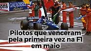 Pilotos que venceram pela primeira vez na F1 em maio