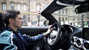 Ocon talks to F1 Racing in Paris