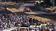 Adam Morgan takes his BTCC Mercedes off-road at Goodwood