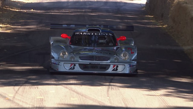 Mercedes-Benz CLK LM demo in Goodwood